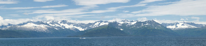 Alaska prince william sound panorama Royalty Free Stock Photography