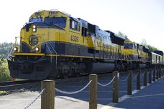 Alaska Rail Road Train Stock Photos