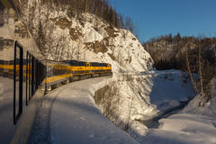Alaska Railroad 'Aurora Train' Reflection Stock Image