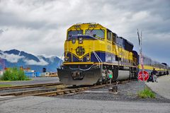 The Alaska Railroad Stock Photo