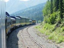 Alaska Railroad southbound passenger train royalty free stock photo