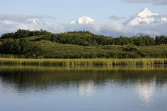 Alaska Range. The Alaska Range, viewed from Reflection Pond, Denali National Park, AK Royalty Free Stock Photo