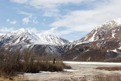 Alaska range. Alaska mountain range in spring Stock Photography