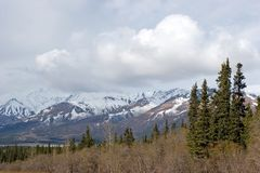 Alaska range. Alaska mountain range and wilderness Stock Images