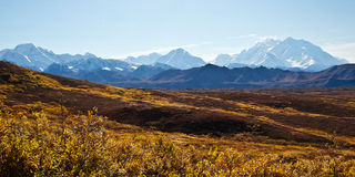 The Alaska Range in Autumn Royalty Free Stock Photo