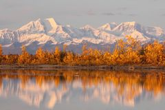 Alaska Range in Denali Stock Photo