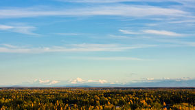 The Alaska Range in Fall Royalty Free Stock Images