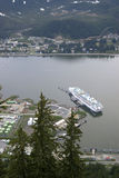 alaska rejsu doku Juneau statek Zdjęcie Royalty Free