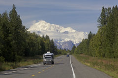 Alaska Road to Denali mountain Stock Photography