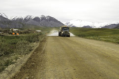 Alaska road truckers Royalty Free Stock Images