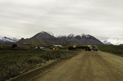 Alaska road truckers Royalty Free Stock Photos