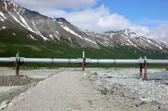Alaska-Rohrleitung horizontal Stockfotos