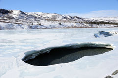 alaska rozbicia dziury lodu rzeki wiosna Obraz Royalty Free