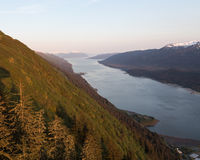 Alaska's Gastineau Channel Royalty Free Stock Photography