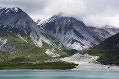 Alaska`s Glacier Bay Cloudy Landscape Royalty Free Stock Photo