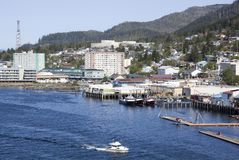 Alaska`s Ketchikan Town Stock Photos