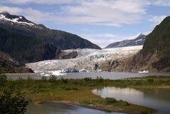 Alaska's Mendenhall Glacier From Afar Royalty Free Stock Image