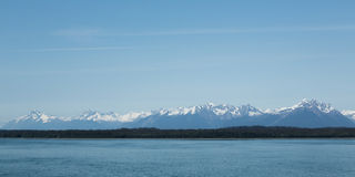 Alaska's Mountainous Shoreline Stock Photo