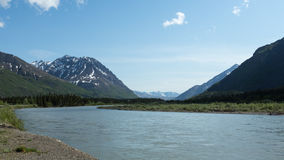 Alaska's Nenana River Royalty Free Stock Images