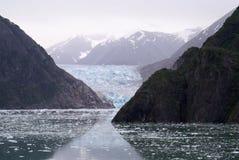 Alaska's Sawyer Glacier in the Fog Stock Image