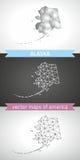 Alaska-Satz Grau und polygonale Karten des Silbermosaiks 3d Lizenzfreie Stockfotografie