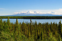 Alaska Scenery. A view of a lake and mountains in Alaska stock images