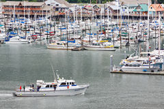 Alaska Seward Łowi Chater łodzi powroty fotografia royalty free