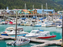Alaska Seward Waterfront  Royalty Free Stock Images
