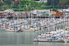 Alaska Seward Waterfront View from Cruise Ship Royalty Free Stock Image