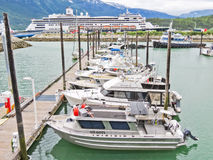 Alaska Skagway Small Boat Harbor Map Royalty Free Stock Images