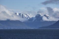 Alaska snow covered mountains Stock Photo