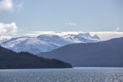 Alaska snow covered mountains Stock Photography