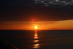 alaska solnedgång Royaltyfria Bilder