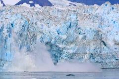 Alaska som kalvar glaciären royaltyfri fotografi