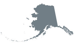 Alaska stanu usa sylwetki mapa Fotografia Royalty Free