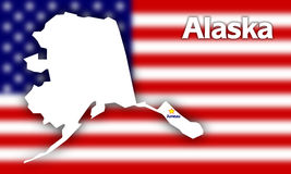 Alaska state contour Stock Photos