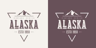 Alaska state textured vintage vector t-shirt and apparel design, typography, print, logo, poster. Global swatches vector illustration