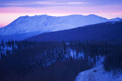 Yukon-Tanana Mountain Uplands. Alaska is a state in the United States, situated in the northwest extremity of the North American continent, with the Stock Photo