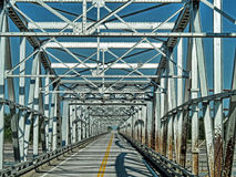 Alaska-Straßenbrücke Stockfotografie