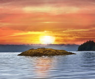 Alaska Sunset Royalty Free Stock Image