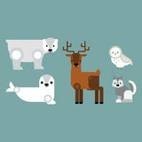 Alaska symbols vector illustration. Royalty Free Stock Photos