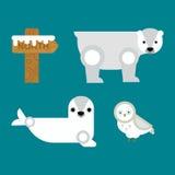 Alaska symbols vector illustration. Royalty Free Stock Image
