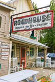Alaska Talkeetna Roadhouse Lodge and Bakery. A view of the famous Roadhouse in downtown Talkeetna, Alaska. It's a popular lodging location and it's fantastic stock photo