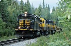 Alaska train. A shot of the famous Alaska Railroad Stock Image