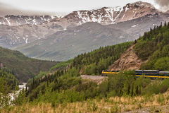 Alaska Train Royalty Free Stock Photo