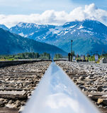 Alaska Train Tracks Royalty Free Stock Photos
