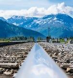 Alaska Train Tracks. The Chugach Explorer tracks just outside of Whittier, Alaska Royalty Free Stock Photos