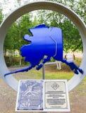 Alaska - trans-Alaska de Toekenning van het Pijpleidingslassen stock afbeeldingen