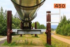 Alaska- - Trans-Alaska-Rohrleitungs-Unterstützungen Stockbild