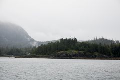 Alaska USA - Cruising in Auke Bay in a cloudy day Stock Photos
